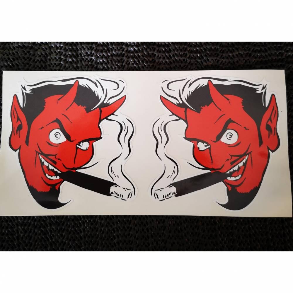 Devil, re.und li. mit Zigarre,bunt Bild 1